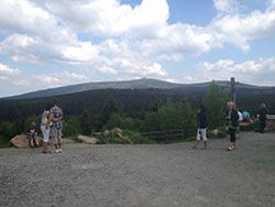 Zauberhafte Aussicht von einem Aussichtspunkt in Wernigerode