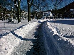 Landschaft im Winter in Weringerode mit Blick auf die Altstadt