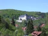 Blick vom Ferienhaus auf das Stolberger Grafenschloß.