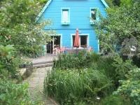 Gartenseite mit Teich