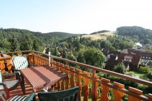 Geniessen Sie den herrlichen und uverbaubaren Panoramablick von Ihrem Balkon oder Terrasse auf die kleine Bergstadt Altenau und die umliegenden harzer Berge und Wälder.
