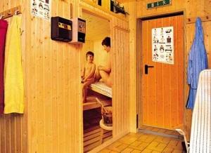 Die hauseigene Sauna.