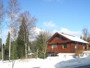 Blockhaus im Schnee direkt buchen