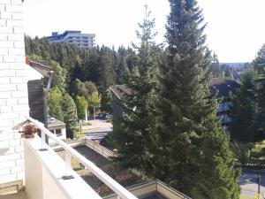 Der Panoramablick vom überdachten Balkon