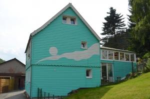 Haus am Bergflüsschen Nordseite (Glasdach gehört zu unserem 2.Objekt/Nachbarferienhaus