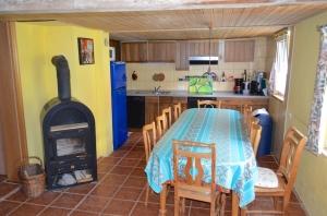 Essbereich für 12 Personen mit Kamin u. Küchenzeile, Fußbodenheizung