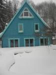 Teich und Terrasse mit 80cm Schnee